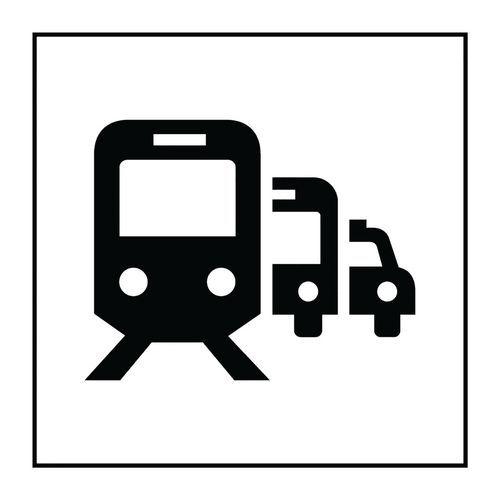 Pictogramme pôle de correspondance ou gare routière en Vinyle