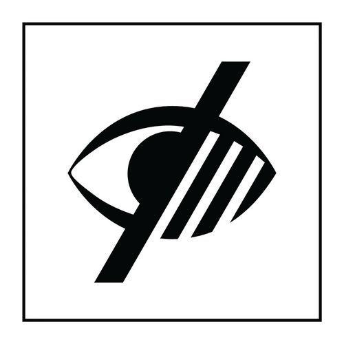 Pictogramme accessibilité malvoyant en Gravoply