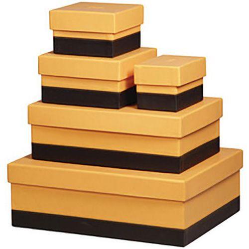 Kit de 5 boîtes de rangement, en similicuir