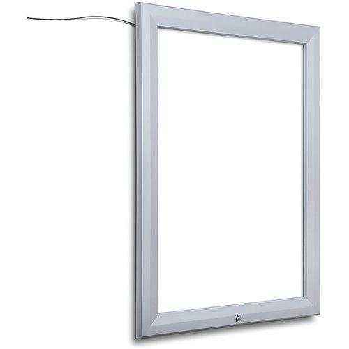 Vitrine d´extérieur, verrouillable, Bords lumineux LED_Jansen Display