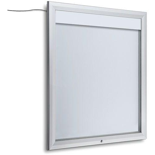 Vitrine d´extérieur, verrouillable, bandeau lumineux LED