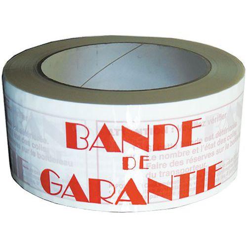Adhésif PVC 48 mm X 100 m BANDE DE GARANTIE
