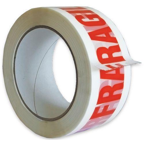 Adhésif PVC 48 mm X 100 mm FRAGILE