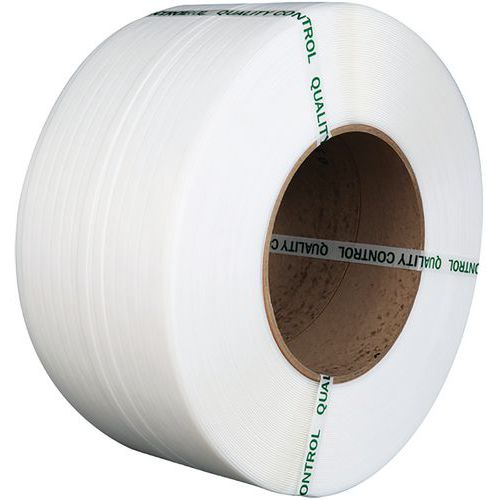 Feuillard PP machine 8 X 0,55 mm D200 4000 m Blanc