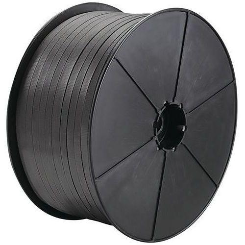 Feuillard PP manuel 12 X 0,80 mm 1000 m D26 Noir