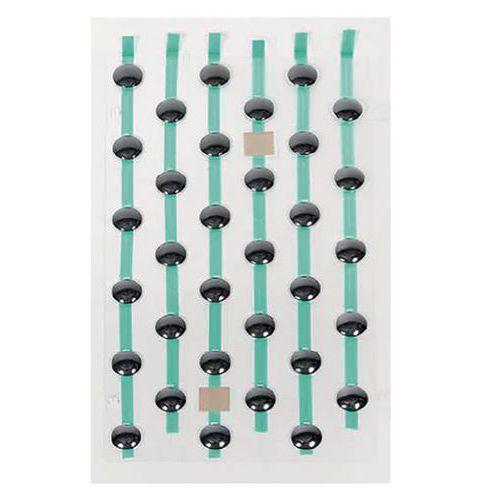 Plaques de plots podotactiles PODOKit thermoplastique noir auto-adhésifs