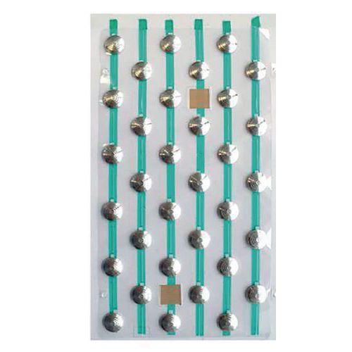Plaques de plots podotactiles PODOKit en aluminium strié auto-adhésifs
