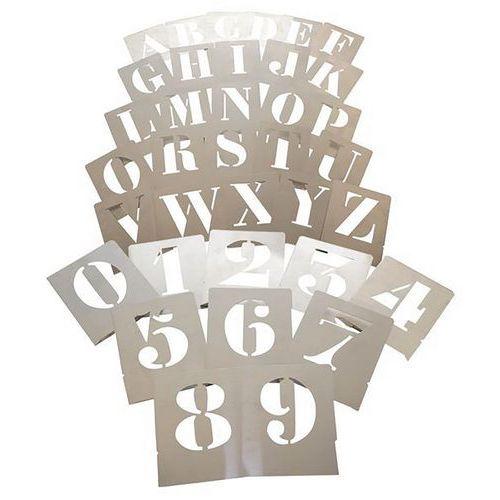 Pochoir en aluminium lettres et chiffres 10 cm