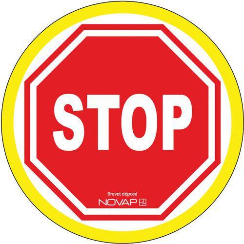 Panneau d'interdiction haute visibilité - Stop - Rigide - Novap