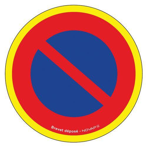 Panneau d'interdiction haute visibilité - Défense stationner - Rigide - Novap