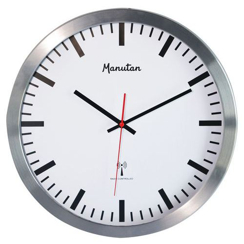 Horloge murale radio-pilotée - Manutan