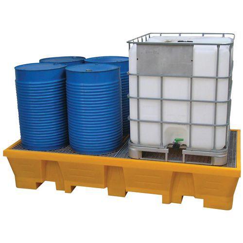 Palette de rétention maxi bi-conteneurs 1050 LITRES galvanisé