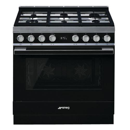 Piano de cuisson mixte SMEG - CPF9GMBL - L.90 cm- noir
