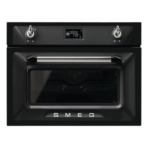 Micro-ondes encastrable combiné SMEG - SF4920MCN1 - 40 L- noir