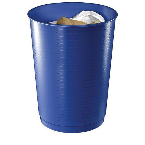 Corbeille à déchets bleu cobalt - 40 L - CEP