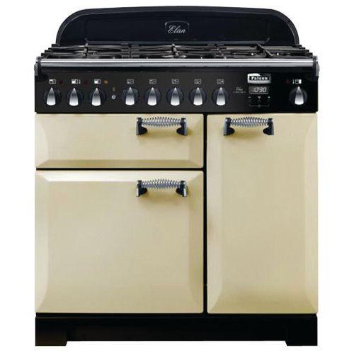 Piano de cuisson mixte FALCON-ELA90DFCR-EU-90 cm-Crème