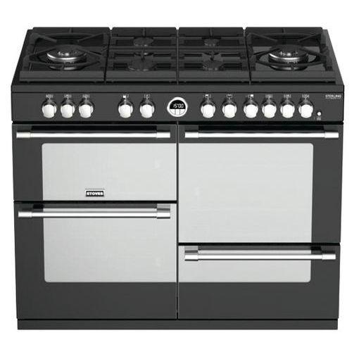 Piano de cuisson mixte STOVES-PSTERGL110DFBL-110 cm-Noir