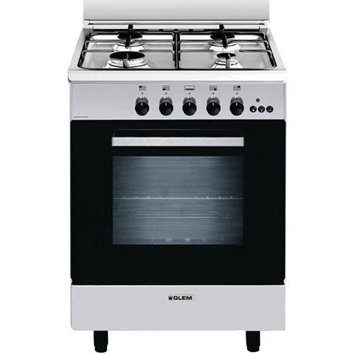 Cuisinière gaz GLEM-GA660MIX-60 cm-Inox