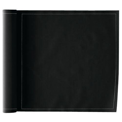 Lot de 12 Serviettes de table 32 x 32 cm Noir-MY DRAP-Basics