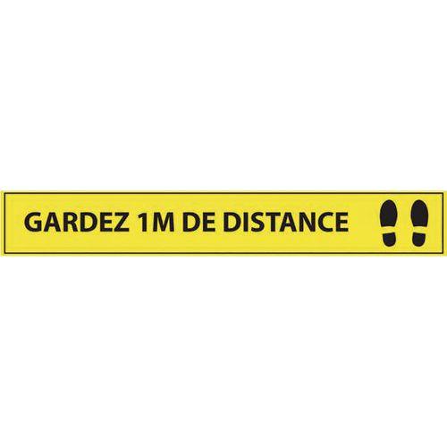 Adhésif de marquage au sol - Gardez 1m de distance -