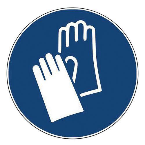 Panneau - Gants de protection obligatoires -