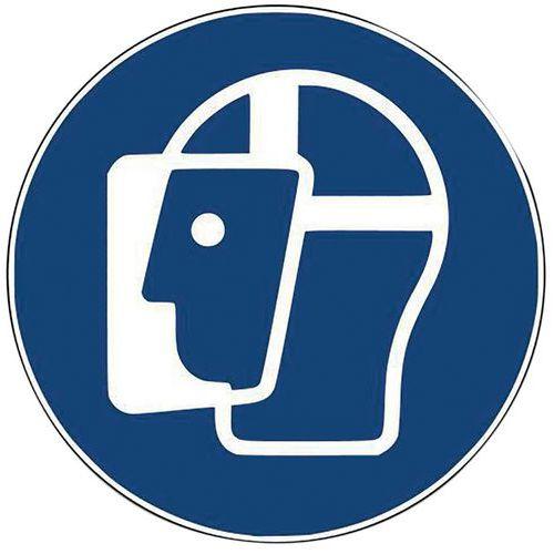 Panneau - Visière de protection obligatoire -