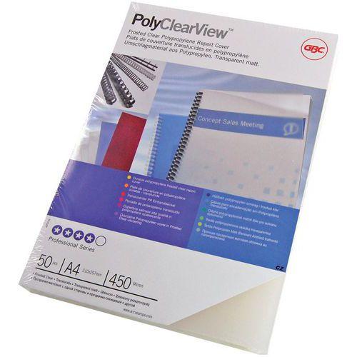 Couverture pour perforelieuse en PVC GBC PolyClearView