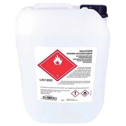 Solution hydroalcoolique 74 % pour les mains - 10L