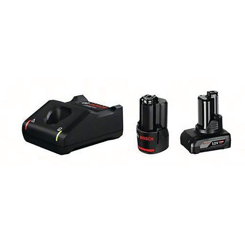 Batteries GBA 12v 2.0ah, GBA 12v 4,0 ah et avec chargeur GAL 12v-40