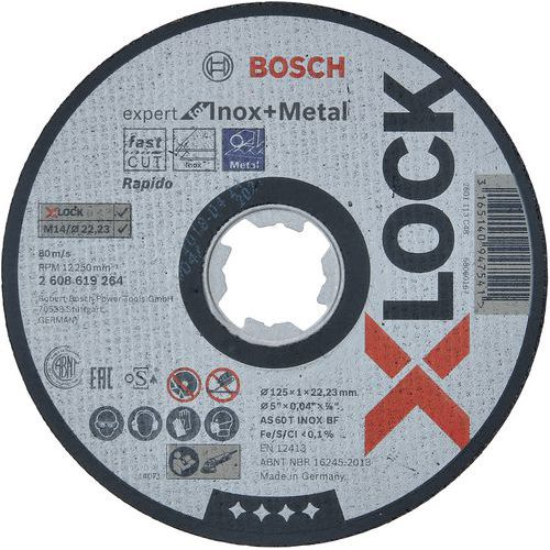 Disques à tronçonner X-lock ExpertforINOX+Metal