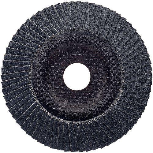 Plateau à lamelles X551 pour métaux diamètre 125 mm, grain 40, coudé