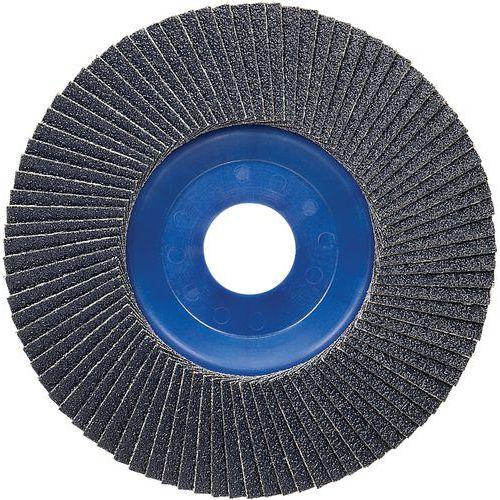 Plateau à lamelles X571 pour métaux diamètre 125 mm, grain 60, droit