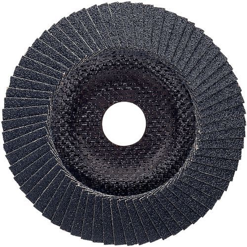 Plateau à lamelles X551 pour métaux diamètre 125 mm, grain 80, coudé