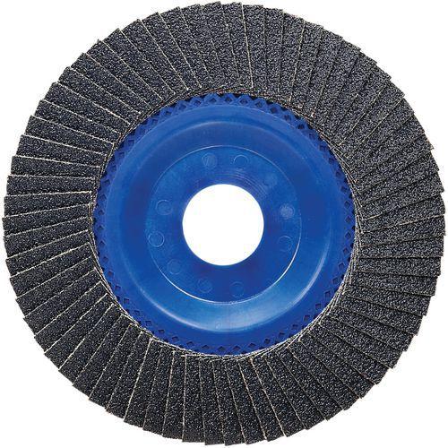 Plateau à lamelles X551 pour métaux diamètre 125 mm, grain 80, droit