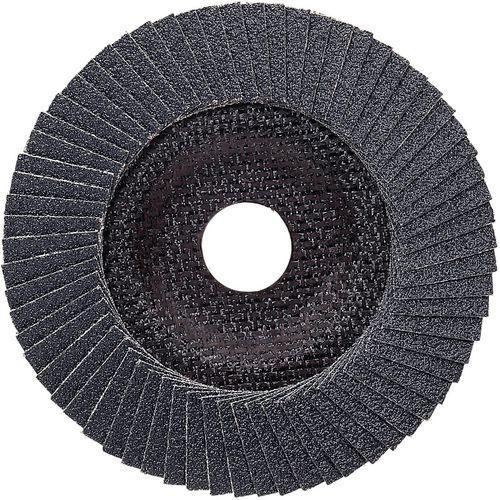 Plateau à lamelles X571 pour métaux diamètre 125 mm, grain 80, coudé