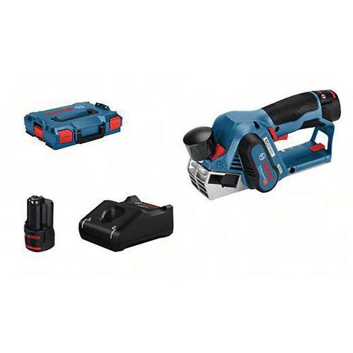 Rabot sans fil GHO 12v-20 avec 2 batteries 3,0 ah L-Boxx