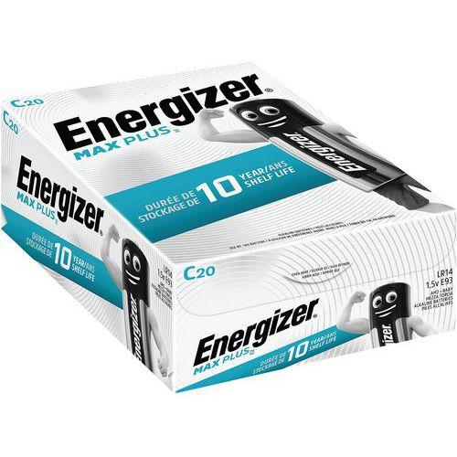 Pile alcaline Max Plus C - Lot de 20 - Energizer