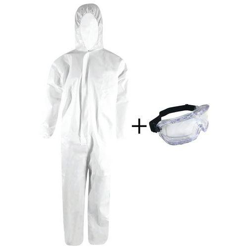 Kit de protection individuelle combinaison SMS/lunettes-masque