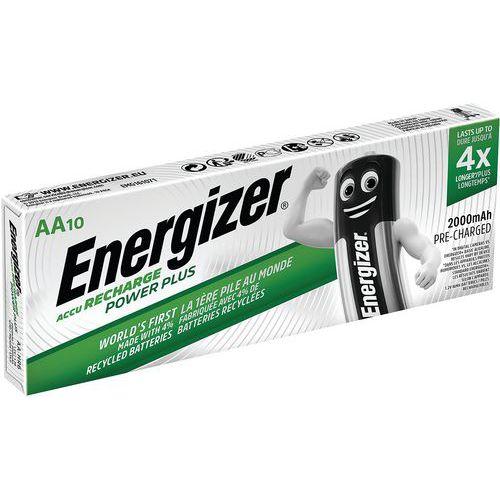 Pile rechargeable Power Plus - HR6/AA 2000mAh - Lot de 10 - Energizer