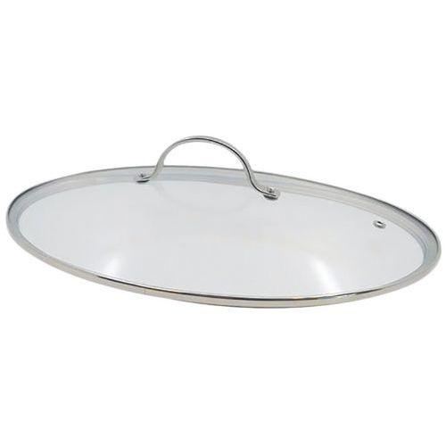 Couvercle à poisson en verre ovale pour poêle