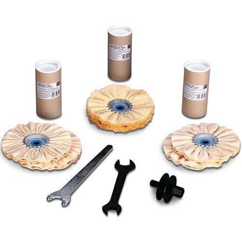 Set de polissage surfaces planes, tubes et profilés -FEIN