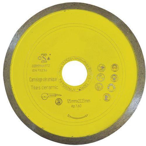 Disque à tronçonner carrelage - céramique - faïence Ø 125 mm – Manutan