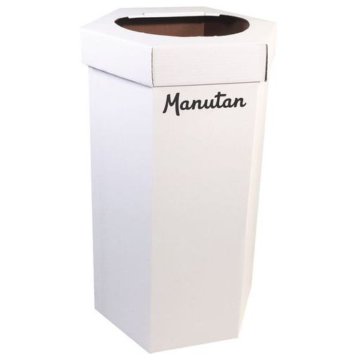 Poubelle en carton 90 L - Lot de 10 - Manutan
