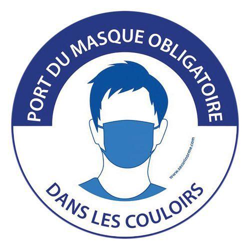 Panneau Port du masque obligatoire dans les couloirs