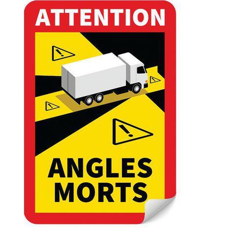 Panneau danger angles morts pour Camion - Novap