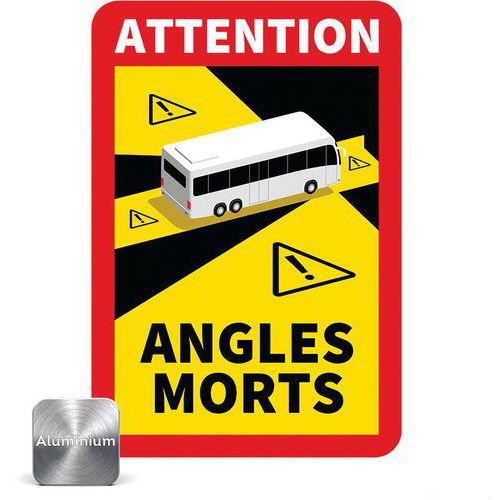Panneau danger angles morts pour Bus - Novap