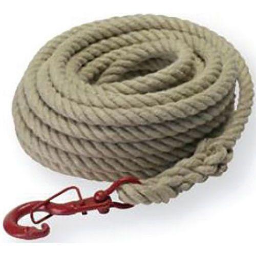 Corde à poulie en chanvre D22mm avec crochet à linguet - Godet
