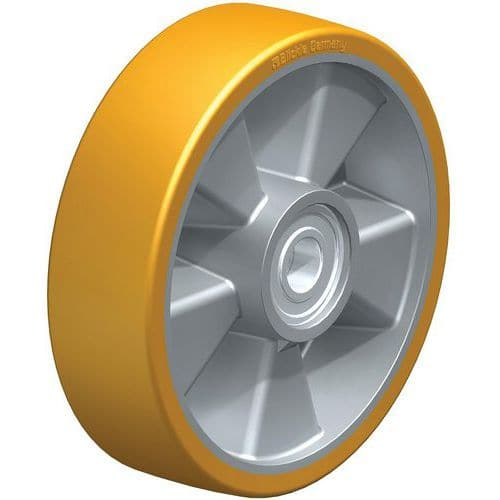 Roue transpalette PU Extrathane® corps aluminium - Charge 600 à 800 kg