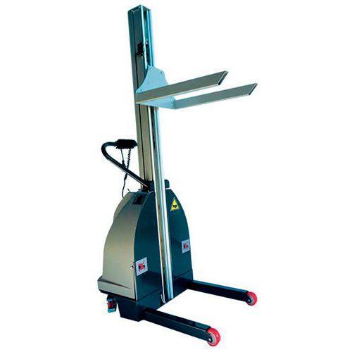 Gerbeur semi-électrique 200 kg inox 304 levée 2000 mm - Stockman