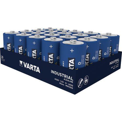 Pile alcaline industrielle D LR20 - Pack de 20 - Varta